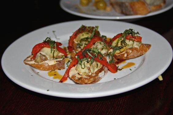 Tappas in Las Vegas @ firefly. Need to learn how to make these artichoke toasts. They were so good.