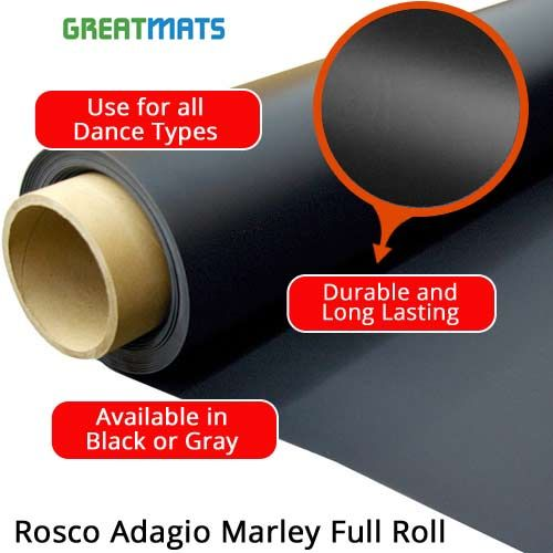 Durable Vinyl Rosco Adagio Marley Dance Studio Flooring Full Roll Dance Studio Floor Marley Floor Dance Dance Studio