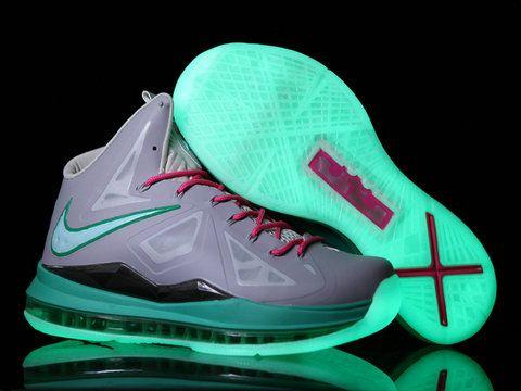 Nike LeBron 10 X Glow in the Dark Grey Pink Blue Black