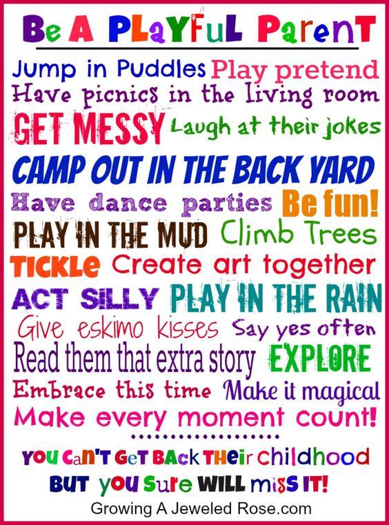 Be a playful parent! Free printable