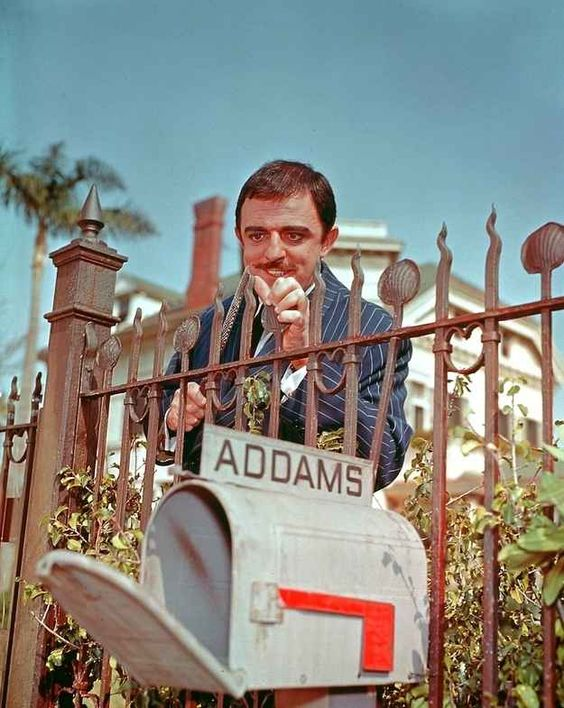 Whoa…it's Gomez Addams in color.