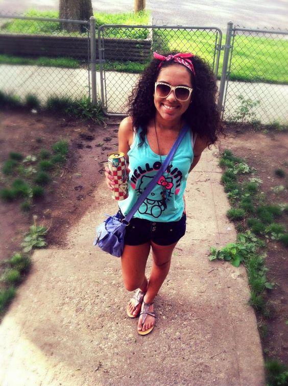 swag girl curly hair