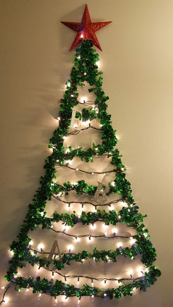 Cheap And Easy Christmas Decorations For Home Wall Christmas Tree Easy Christmas Decorations Christmas Crafts Decorations