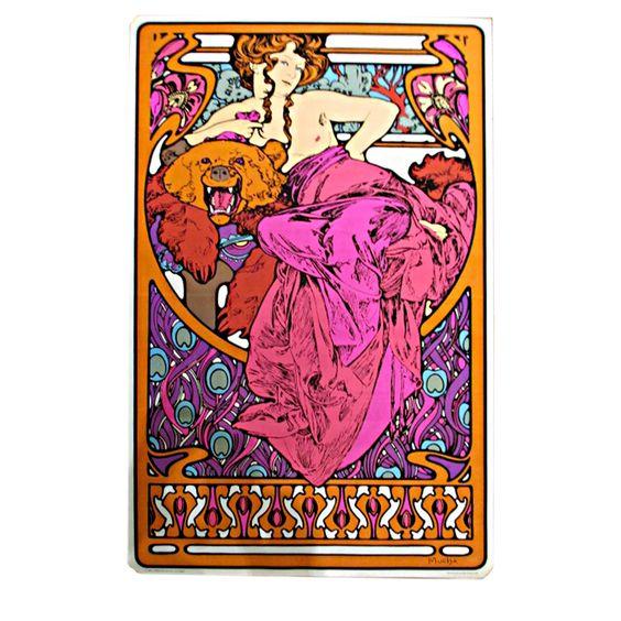 Poster psicodélico  Alphonse Mucha '69