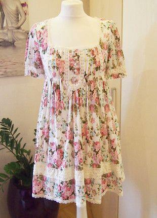 Kaufe meinen Artikel bei #Kleiderkreisel http://www.kleiderkreisel.de/damenmode/kurze-kleider/110092542-liz-lisa-babydoll-kleid-spitze-floral-blumen-blumchen-lolita-gyaru-japan-vintage-boho
