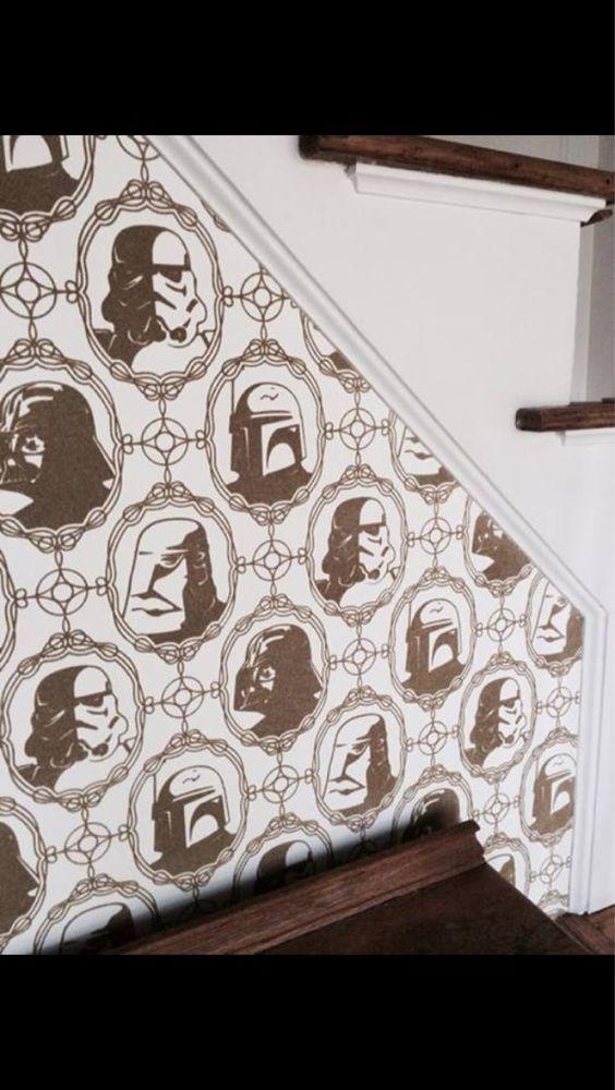 tapete star wars womit das leben sch ner werden w rde pinterest bathrooms decor nerd. Black Bedroom Furniture Sets. Home Design Ideas