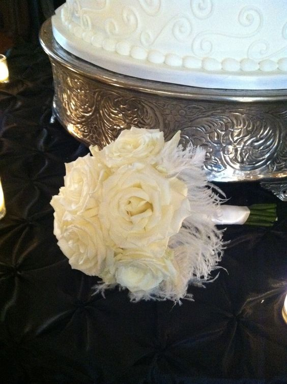 Toss bouquet! Always complimentary! Petals by Design (Laura)