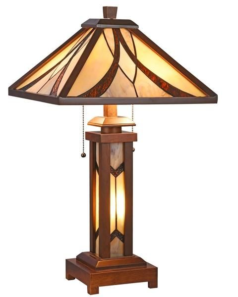 Arts Crafts Gordon Table Lamp With Lighted Base Wooden Table Lamps Table Lamp Lamp