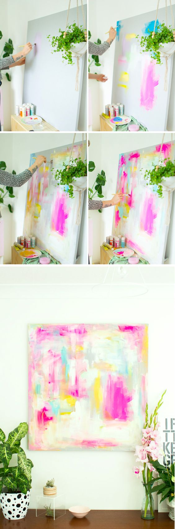 DIY Abstract Artwork - Furniture Hacks Tutorial: