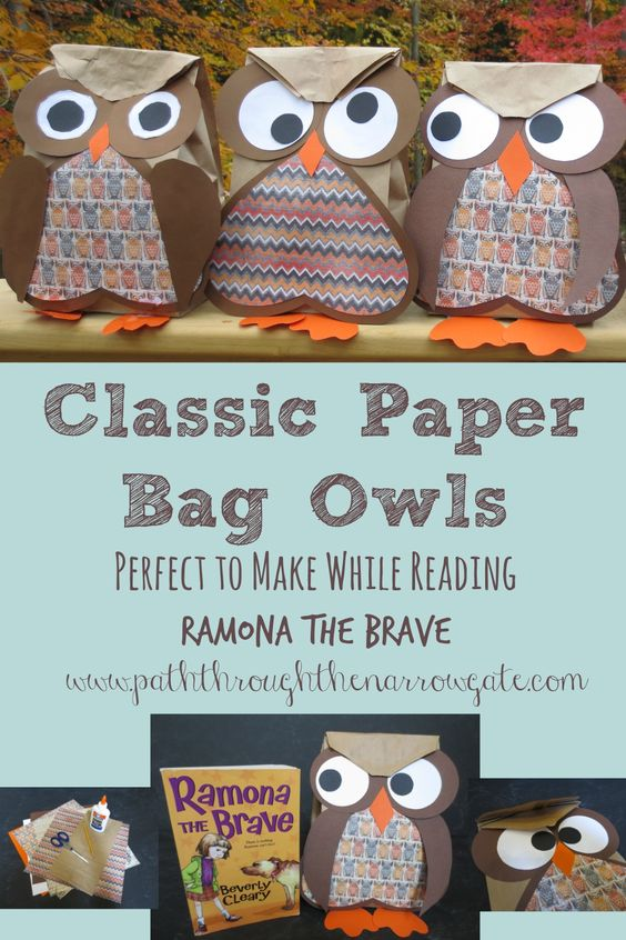paper bags  fall crafts and owl on pinterest