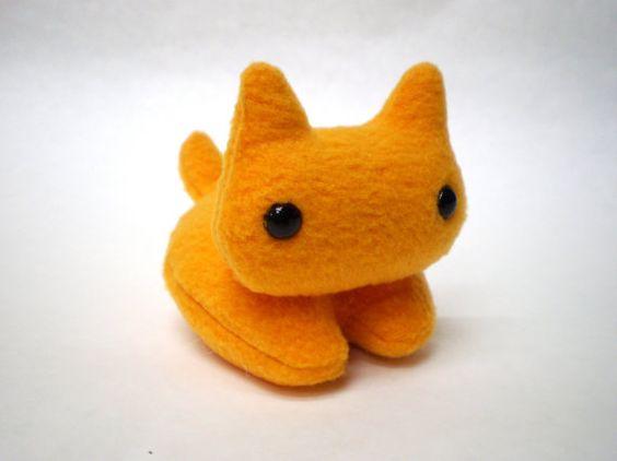 Orange Kitty Plush Kitty Cat Stuffed Toy by CheekyBeasts on Etsy, $14.00