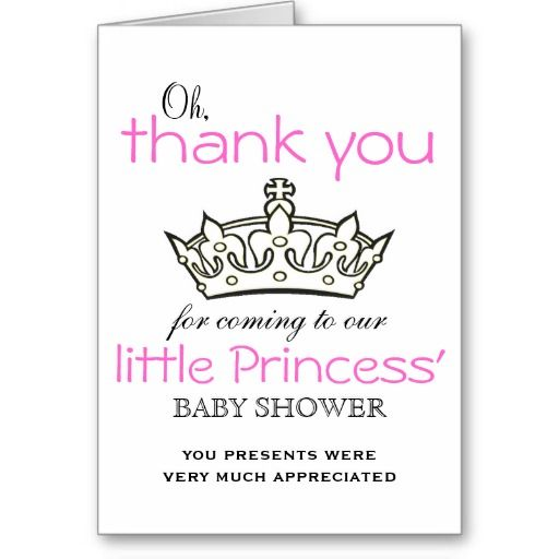 Oh Little Princess! Baby Shower Thank You Cards Chloe - baby shower thank you notes