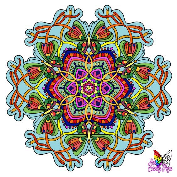 Mandala Coloring Pages For Grownups Colorbynumber Star Coloring Pages Mandala Coloring Pages Happy Colors