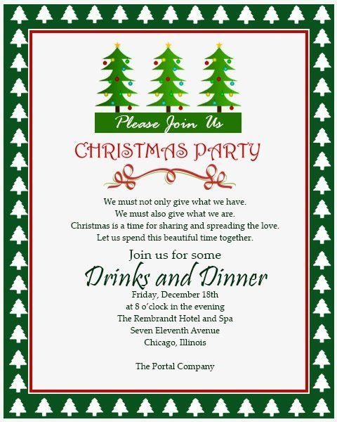 Examples Of Christmas Party Invitations Luxury Christmas Inv Christmas Party Invitation Wording Christmas Party Invitations Christmas Party Invitation Template