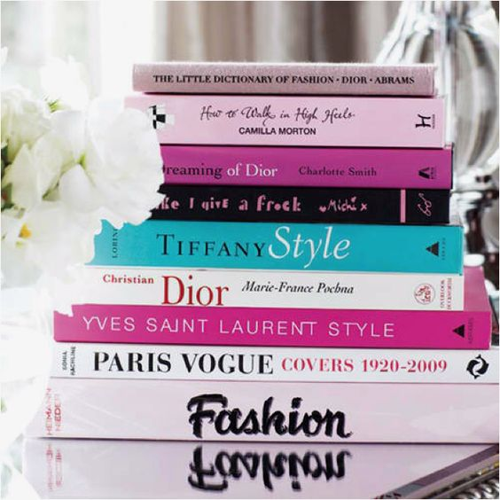 Fashion books for my bedroom bookcase: