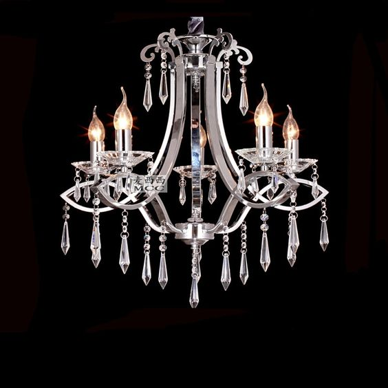 $375.00 (Buy here: http://appdeal.ru/etir ) K9 Crystal Chandelier Modern Fashion European Living Room Lamps Bedroom Hotel Candle Crystal Chanelier 5 Lights for just $375.00