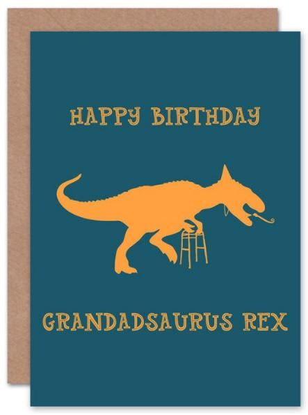 Grandadsaurus Rex Birthday Card Grandad Card Grandparent Birthday Card Papa Grandfather Grandpa Birthday Card Happy Birthday Grandpa Grandad Birthday Cards