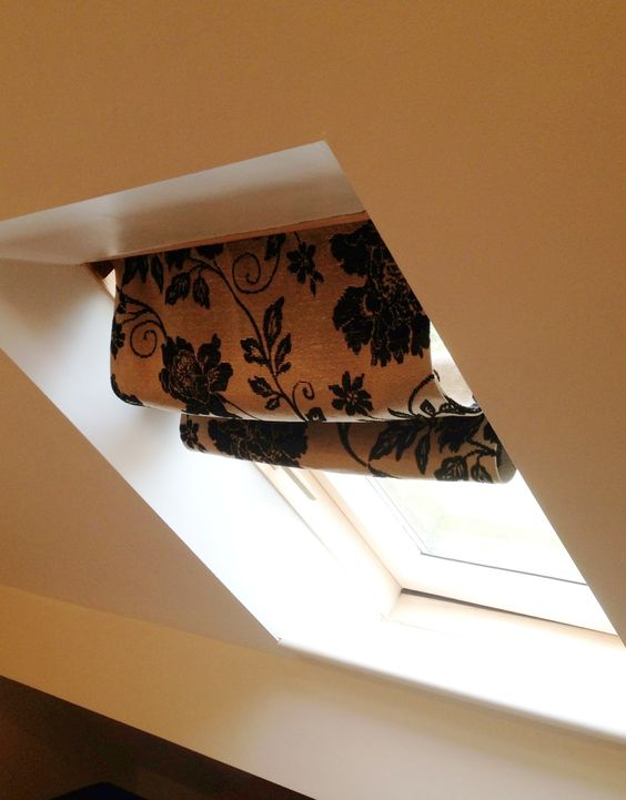 Home made Velux roman blind. | Window Treatments | Pinterest ...