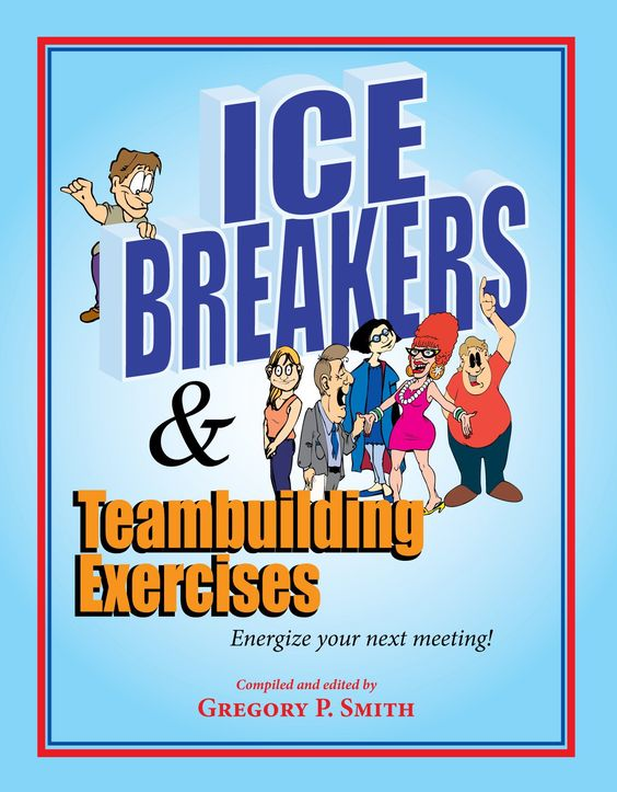 Our best selling icebreakers and team building activities book has 65 exercises. Used all over the world for team meetings, conferences and classroom activities