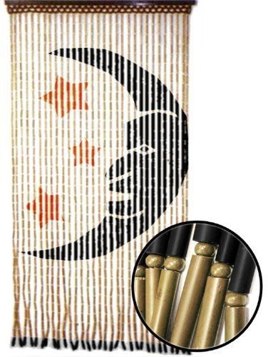 Bamboo effect wooden door screen/curtain beaded insect blind fly ...