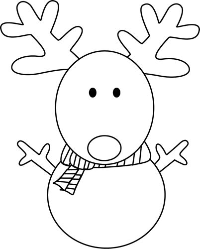 Clip Art Reindeer Clipart Black And White clip art black and white christmas reindeer snowman outline google search