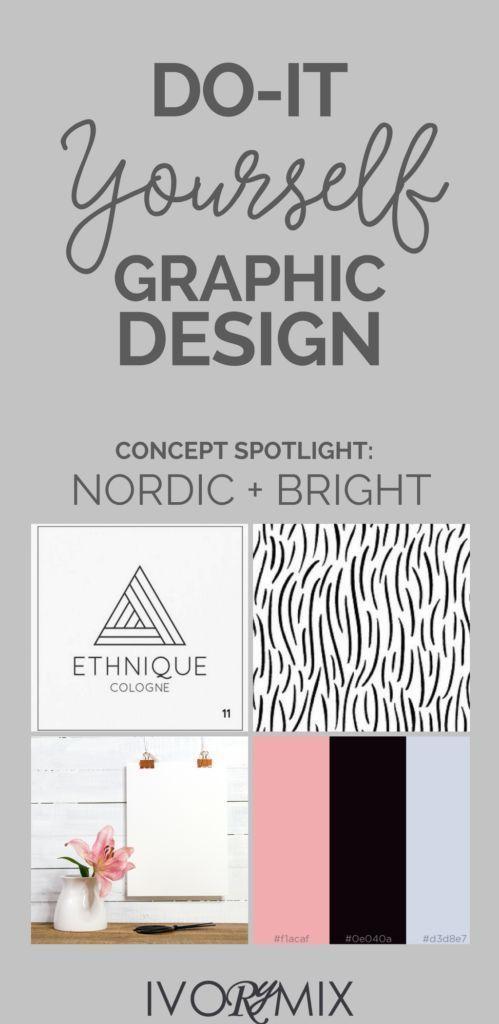 Do Graphic Design For Your Blog Yourself Color Concept Spotlight Nordic Scandinavian Design An Diy Graphic Design Graphic Design Tutorials Web Graphic Design
