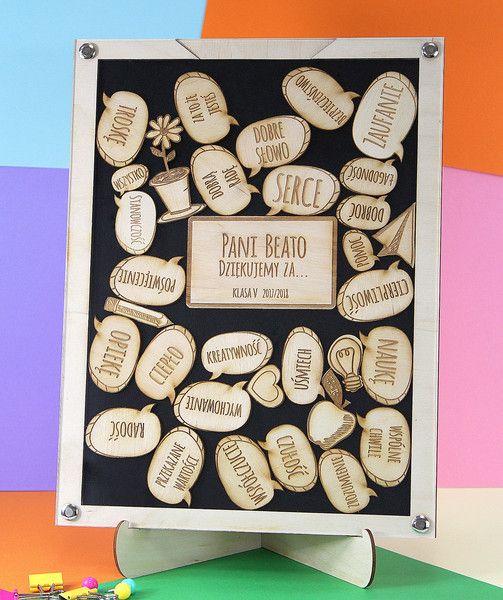 Ramka Tablica Dzien Nauczyciela Belfra Prezent 2fr Kartki Z Podziekowaniami Crafts Teacher Gifts Handmade