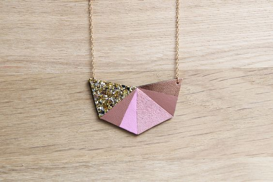 Collier HEXA Rose Bonbon - necklace by Chouette Fille