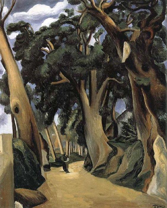 André Derain (1880-1954) was een Frans kunstschilder en beeldhouwer. In 1900 huurde hij een studio met Maurice de Vlaminck en begon hij met het schilderen van zijn eerste landschappen. Matisse, Derain en De Vlaminck worden beschouwd als de grondleggers van het fauvisme. Na de bevrijding werd Derain in Frankrijk gezien als collaborateur en viel hij in ongenade. Zijn werk werd niet langer op exposities getoond, wat zijn relatieve onbekendheid verklaart.