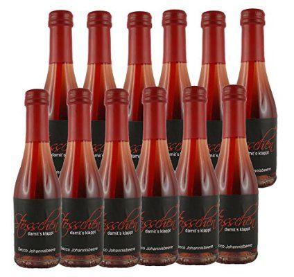 Piccolo Secco versandkostenfrei, Secco Stösschen rote Johannisbeeren Geschmack Piccolo 0,2L - 12er Pack aus Sekt -und Weinkellerei seit vier Generationen - im versandkostenfreie Angebot - Praktische Party Getränke mit dem eingebauten Trinkhalm!