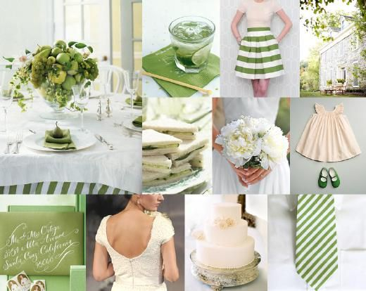 green wedding - perfect for a wedding in the month of March!