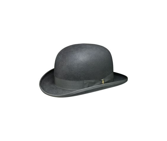 Bowler hat. Product code: 160100. Shop it here: http://shop.borsalino.com/en/mans-collection/fall/winter/felt-hats-carry-over/bombetta-classica.