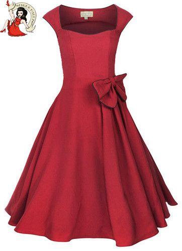 Kleid Damen Lindy Bob 50er Jahre Grace Vintage Abend Kleid Rot | eBay