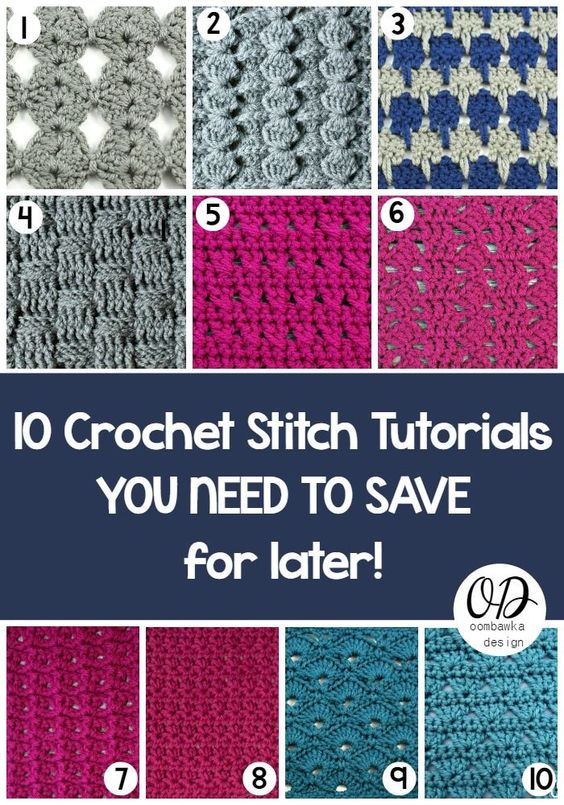 Guest Post: 10 Crochet Stitch Tutorials You Need To Save For Later ༺✿ƬⱤღ https://www.pinterest.com/teretegui/✿༻: