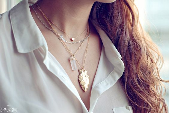 Gold Arrowhead Necklace by BoutiqueMinimaliste on Etsy https://www.etsy.com/listing/121584519/gold-arrowhead-necklace
