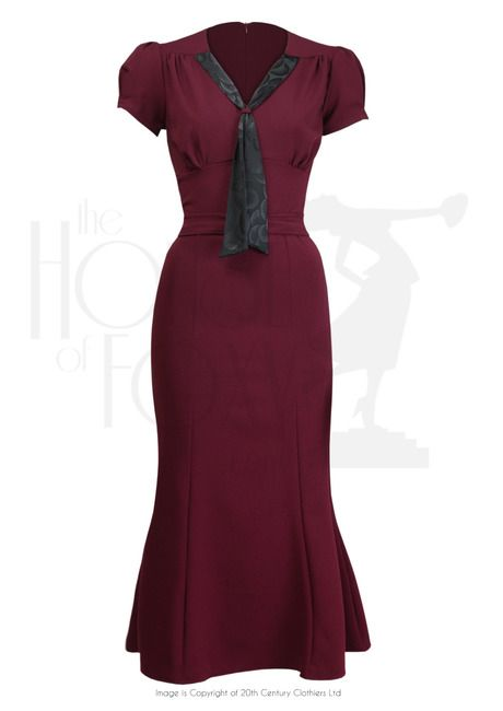 1930s Sweet Thing Dress - Berry