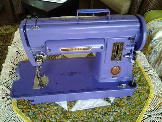 purple vintage sewing machine