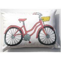 Beach Bike Pink Pillow