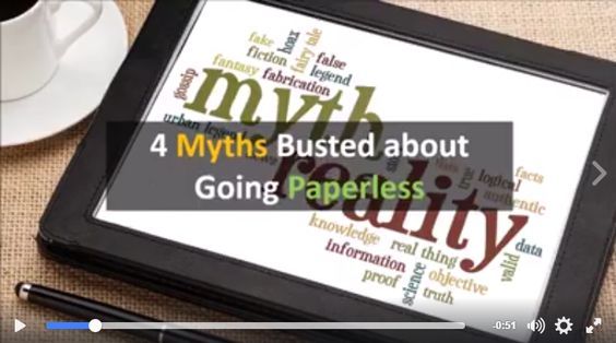 4 Myths Busted about Going Paperless