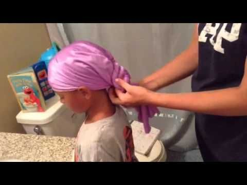 Biracial Hair Care 101: How to use a sleep cap. I wish someone had taught me this 7 years ago..but now I can show you in a few seconds! Essential for biracial or African American blended hair cared for naturally!