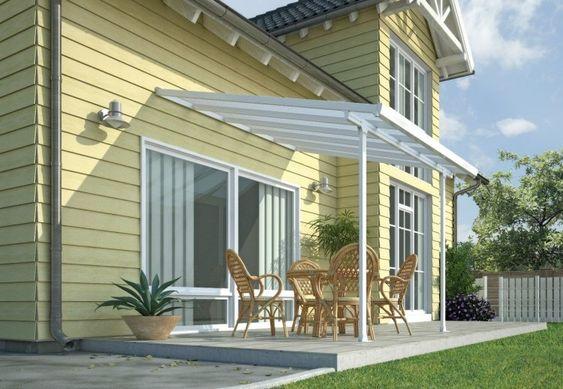 Toiture Transparente Pour Terrasse Avec Cadre En Aluminium Toiture Transparente Pergola Blanche Patio Pergola
