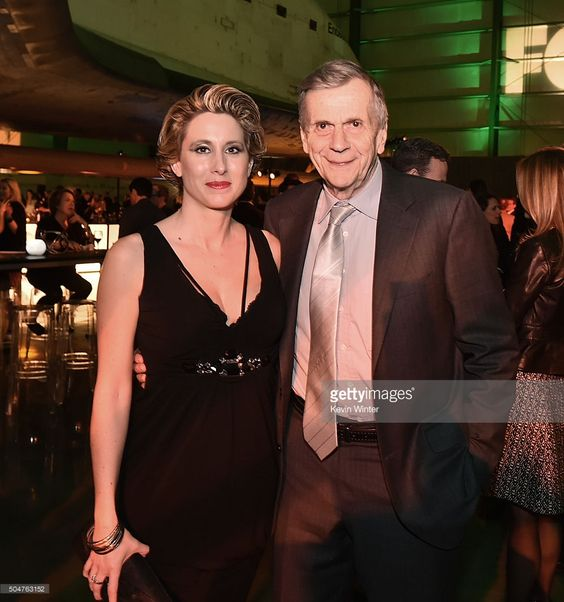 Emmanuelle Davis and actor William B. Davis pose at the after party for the…