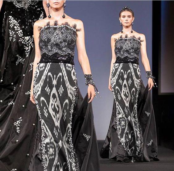 Gorgeous dress by lali fashion house uzbekistan ikat for Haute couture fashion house