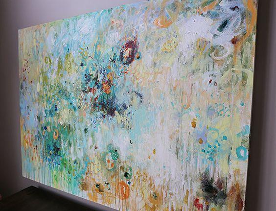 gran pintura arte abstracto moderno Resumen pintura por artbyoak1