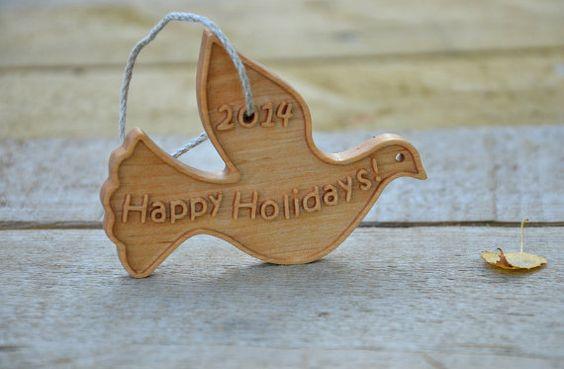 Personalized Wooden Christmas Ornament Custom by KlikKlakBlocks