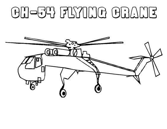 Helicopters Flying Crane
