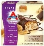 Atkins Endulge Chew Bars Caramel Nut — 5 Bars....My Favorite!  Tastes just like a snickers bar! no lie!