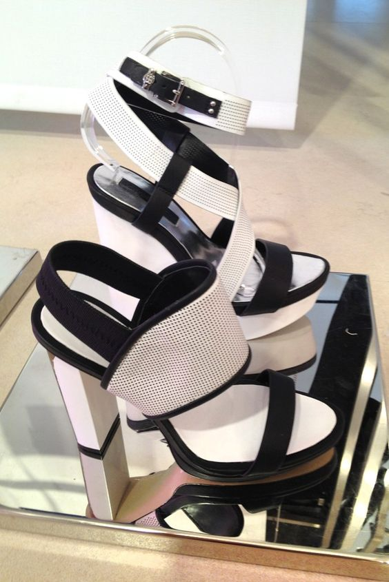 Resort Footwear Highlights: Black and white graphic styles at BCBG Max Azria