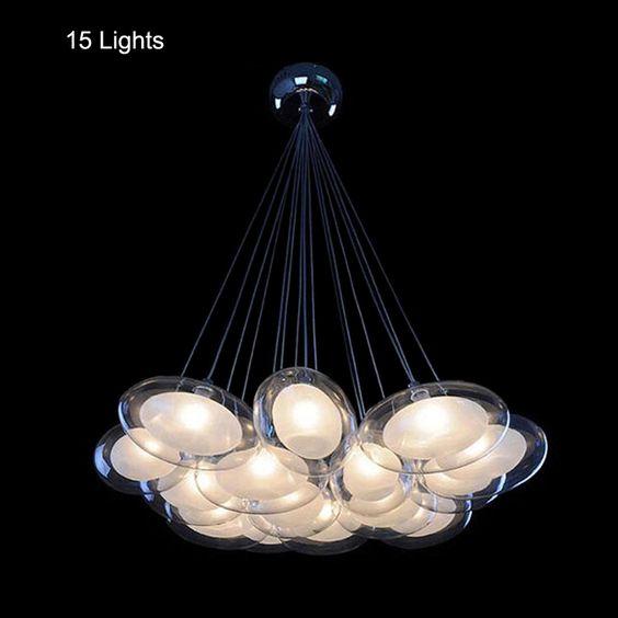 Cheap lampadari moderni 15 luci led lampadine g4 incluso vetro ...