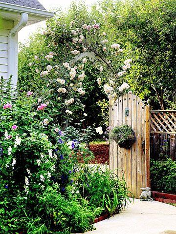 Romantic Arbor Garden Plan Gates Arbors And Climbing Roses